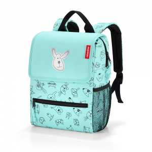 Ruksak Kids Cats and Dogs Mint