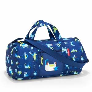 Skladacia taška Reisenthel Mini Maxi Dufflebag S Kids Abc Friends Blue