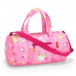 Skladacia taška Reisenthel Mini Maxi Dufflebag S Kids Abc Friends Pink