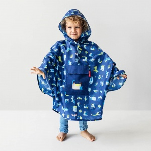 Pončo Mini Maxi M Kids Abc Friends Blue 2