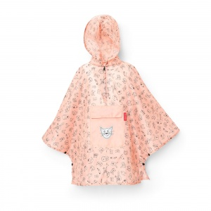 Pončo Mini Maxi M Kids Cats and Dogs Rose