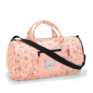 Skladacia taška Reisenthel Mini Maxi Dufflebag S Kids Cats and Dogs Rose