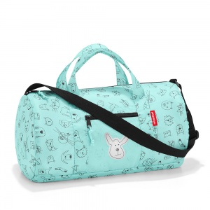 Skladacia taška Reisenthel Mini Maxi Dufflebag S Kids Cats and Dogs Mint