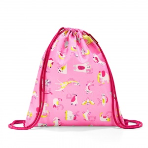 Vrecko, ruksak Mysac Kids Abc Friends Pink