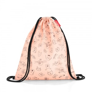 Vrecko, ruksak Mysac Kids Cats and Dogs Rose