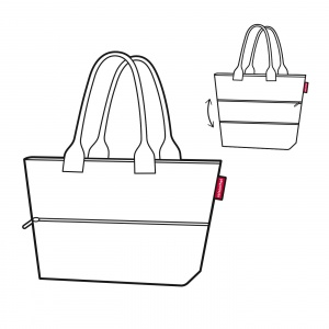 Taška Reisenthel Shopper e1 Twist Silver 4