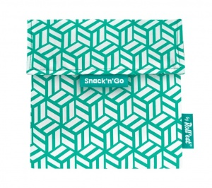 Eko vrecko Snack'N Go Tiles Green